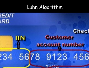 Luhn's algorithm to validate credit card number